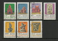 Vietnam 1987 architecture série de 7 timbres oblitérés /TR8411