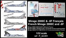 [FFSMC Productions] Decals 1/32 Mirage 2000C et -5F Français (ref P_32-051)