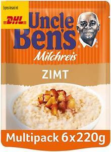 Uncle Ben's Express Milchreis Zimt, 6 Packungen (6 x 220 g)
