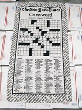 Vintage new york times crossword puzzle towel