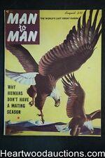 Man to Man Aug 1953 Ed McBain- 1st App, Boxing - Ultra High Grade- NAPA