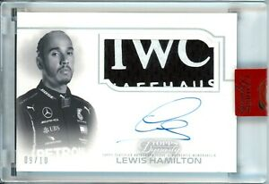 LEWIS HAMILTON 2020 TOPPS F1 DYNASTY RC ROOKIE ON CARD AUTO PATCH /10