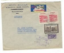 1948 Barrancabermeja Colombia Commercial Airmail Label to Bronx NY, OIL