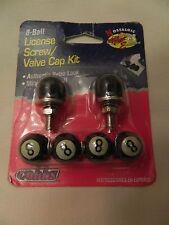 COBBS NOSTALGIC 8-BALL LICENSE SCREW/VALVE CAP KIT