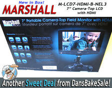 "Marshall Electronics M-LCD7-HDMI-B-NEL3 7"" Portable On-Camera Field Monitor"