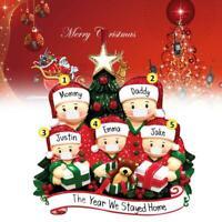 DIY 2020 Xmas Christmas Tree Hanging Ornaments Family Ornament Santa Claus Decor