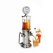 Double Guns Liquor Beverage Dispenser Machine Transparent Color Silver Finish
