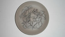 POOLE POTTERY STONEWARE MINI PLATE MOUSE & SNAIL BARBARA LINLEY ADAMS