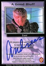 BABYLON 5 CCG Trading Card Andreas Katsulas Signed A Good Bluff AUTOGRAPHED