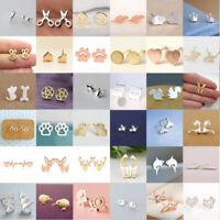 Fashion Women's Girl 925 Silver Sterling Cute Ear Stud Earrings Jewelry Gifts