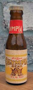 #1 Olympia Miniature Long Neck Beer Bottle Salt Pepper Olympia WA Mini Cone Flat