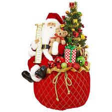 "22.5"" LIGHTED TOY BAG WITH SANTA 3815542 RAZ Imports Christmas NEW FaBuLouS MINT"