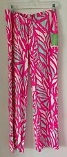 NWT $138 LILY PULITZER GEORGIA MAY PALAZZO PANT, CAPRI PINK PAPAYA PLAYA, Medium