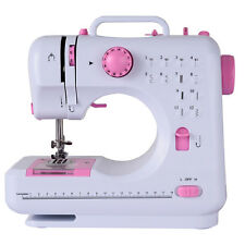 Sewing Machine Free-Arm Crafting Mending Machine with 12 Built-In Stitched White
