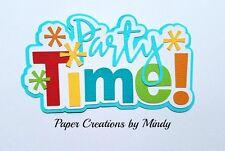 CRAFTECAFE MINDY BIRTHDAY PARTY DIE CUT  premade paper piecing scrapbook title