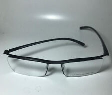 titanium alloy Spectacles Glasses frame Half-Rim Eyeglass Frame eyewear black