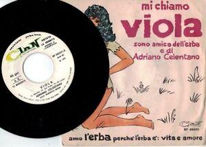 ADRIANO CELENTANO Viola/Se sapevo non crescevo PROMO JB 7' + PS 1970 ITALY MINT-