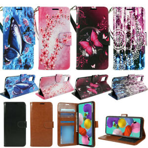 For Samsung Galaxy A51 (4G), PU Leather Wallet Phone Case Flip Stand Strap New