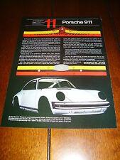 1981 PORSCHE 911  ***ORIGINAL ADVERTISEMENT / PRINT AD***