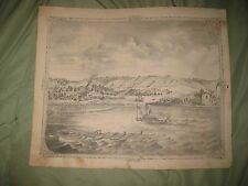 ANTIQUE 1873 ALTON MADISON COUNTY ILLINOIS LUMBER MILL STEAMBOAT LITHO PRINT NR