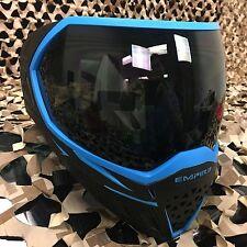 New Empire Evs Dual Pane Thermal Anti-Fog Paintball Goggle Mask - Black/Blue
