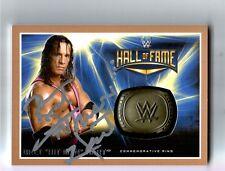 "WWE Bret ""Hit Man"" Hart 2016 HOF Ring Autograph Signed Trading Card w/ JSA COA"