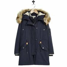 BRAND NEW PARKA LONDON ALEXIA SNORKEL PARKA WITH BOMBER JACKET NAVY SIZE UK 12
