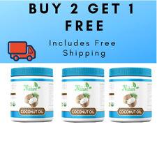 3x1 BPA Jar Certified Organic Tasteless Coconut Oil - 3 for of 2