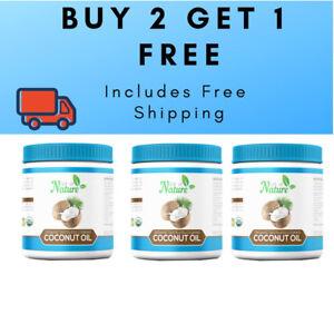 3x1 ltr Jar Certified Organic Tasteless Coconut Oil - 3 for price of 2!