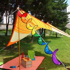 Foldable Rainbow Spiral Windmill Wind Spinner Camping Tent Home Garden Decor Ibu