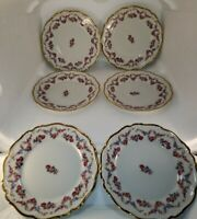 Edelstein Victoria Maria Theresia 6 Bread And Butter Plates Made In Germany