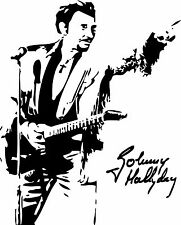 Sticker Johnny Hallyday 101 - 57x71 cm
