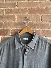 Steven Alan Men's Shirt, Bonded Cotton Size XL Gray
