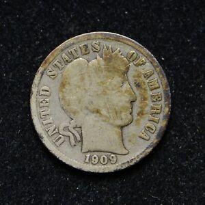 1909-O Barber Silver Dime (bb7562)