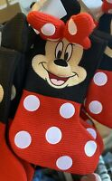 """Disney Parks Holiday 2020 MINNIE MOUSE Cozy Knitted Christmas Stocking 19"""" NWT"""