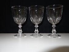 3 Vintage Kristall Glas Weinglas Strahlen Schliff Weißweinglas 60er Jahre No 2