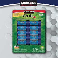 Kirkland Signature Quit4 Mint Lozenge Stop Smoking Aid 270 Pieces 4mg