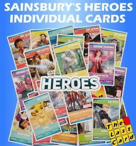 SAINSBURYS HEROES DISNEY INDIVIDUAL CARDS BUY 2 GET 10 FREE! - STAR WARS MARVEL