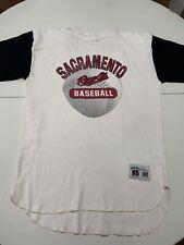 Retro Sacramento RIVER CATS Triple A Baseball Raglan T-shirt Mens Large Rare