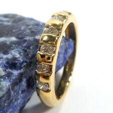 Gold Ring Damenring 54 (17,2 mm Ø) 585/14k Gelbgold Diamanten ca.0,28ct
