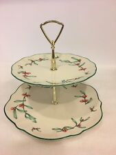 Gorham Homecoming 1981 fine china 2 tiered serving tray (diner & serving tray)