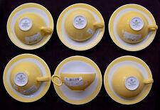 6 Teetassen 2-teilig 0,14 Ltr. Trio Zitronengelb 23807  Seltmann Weiden Top
