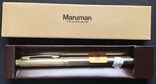 MARUMAN CLIP PIPE BUTANE LIGHTER NOS! GOLD TONE #4