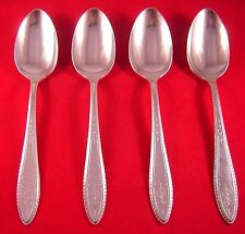 1847 Rogers Argosy 4 Silverplate Oval Soup Spoons - 1926