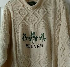 GORGEOUS CABLE KNIT SWEATER XL Ivory