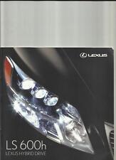 LEXUS HYBRID LS 600h AND 600h L SALES BROCHURE APRIL 2007