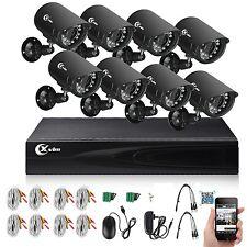 8CH 1080N HDMI DVR 720P IR Outdoor CCTV Surveillance Camera Home Security System