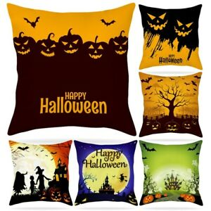 Halloween Throw Cushion Covers Soft Pillow Case For Halloween Decoration 45*45CM