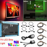 TV LED Backlight 4 x 40CM USB 5050 RGB LED Strip Light Remote Kit 5V 18 lumen US