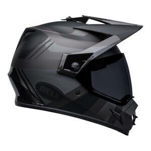 Bell MX-9 Adventure MIPS 2022 Marauder Blackout Motorcycle Helmet (+ Dark Visor)